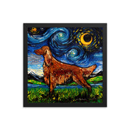 Irish Setter Night Framed Photo Paper Poster