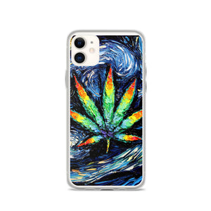 Starry Night Pot Leaf iPhone Case