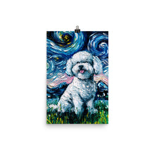 Load image into Gallery viewer, Bichon Frise Night Matte Poster Print