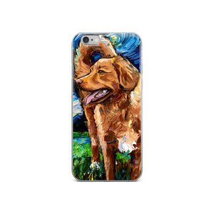 Nova Scotia Duck Tolling Retriever Night iPhone Case