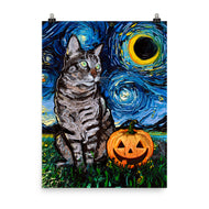 Tabby Night Halloween Print