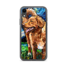Load image into Gallery viewer, Nova Scotia Duck Tolling Retriever Night iPhone Case