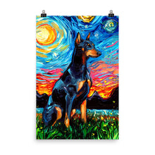Load image into Gallery viewer, Doberman Night Matte Poster Print