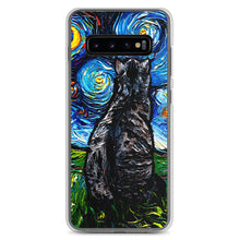 Load image into Gallery viewer, Gray Tabby Cat Night Samsung Android Case