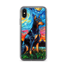 Load image into Gallery viewer, Doberman Night iPhone Case