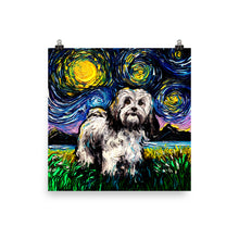 Load image into Gallery viewer, Lhasa Apso Night Matte Poster Print