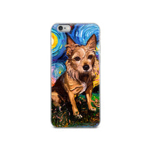 Load image into Gallery viewer, Australian Terrier Night iPhone Case