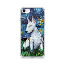 Load image into Gallery viewer, Bull Terrier Night iPhone Case