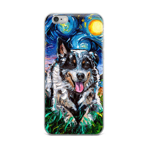Australian Cattle Dog Night iPhone Case