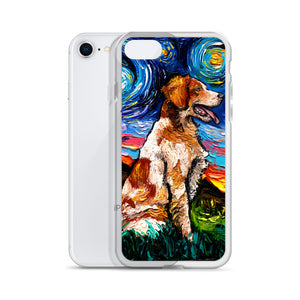 Brittany Spaniel Night iPhone Case