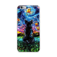 Black French Bulldog Night iPhone Case