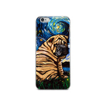 Load image into Gallery viewer, Shar Pei Night iPhone Case