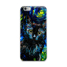 Load image into Gallery viewer, Black Cat Night 3 iPhone Case