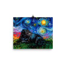 Load image into Gallery viewer, Black Labrador Night 5 Matte Poster Print