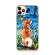 Load image into Gallery viewer, Shiba Inu Night iPhone Case