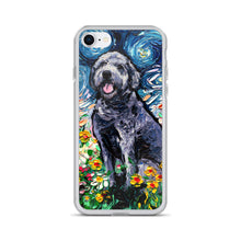 Load image into Gallery viewer, Gray Labradoodle Night iPhone Case