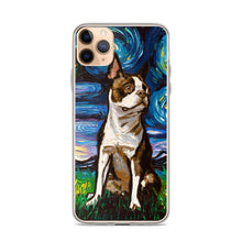 Load image into Gallery viewer, Boston Terrier Night, Brown Version iPhone Case