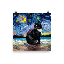 Load image into Gallery viewer, Tuxedo Cat Night 2, Matte Poster Print
