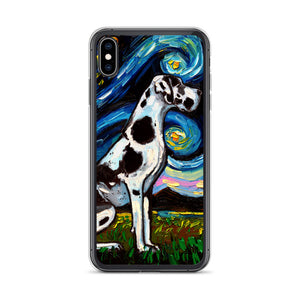 Great Dane Night, Harlequin iPhone Case
