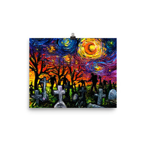 Starry Night of the Living Dead Matte Print