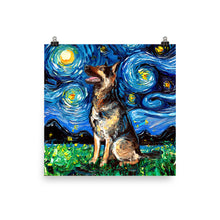Load image into Gallery viewer, German Shepherd Night 2 Matte Poster Print