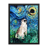 Pug Night Framed Photo Paper Poster