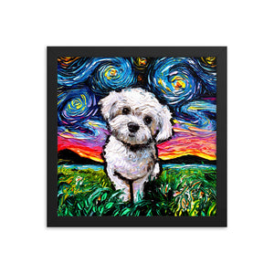 Maltipoo Night Framed Print