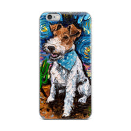 Wire Fox Terrier Night iPhone Case