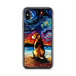 Beagle Night 2 iPhone Case