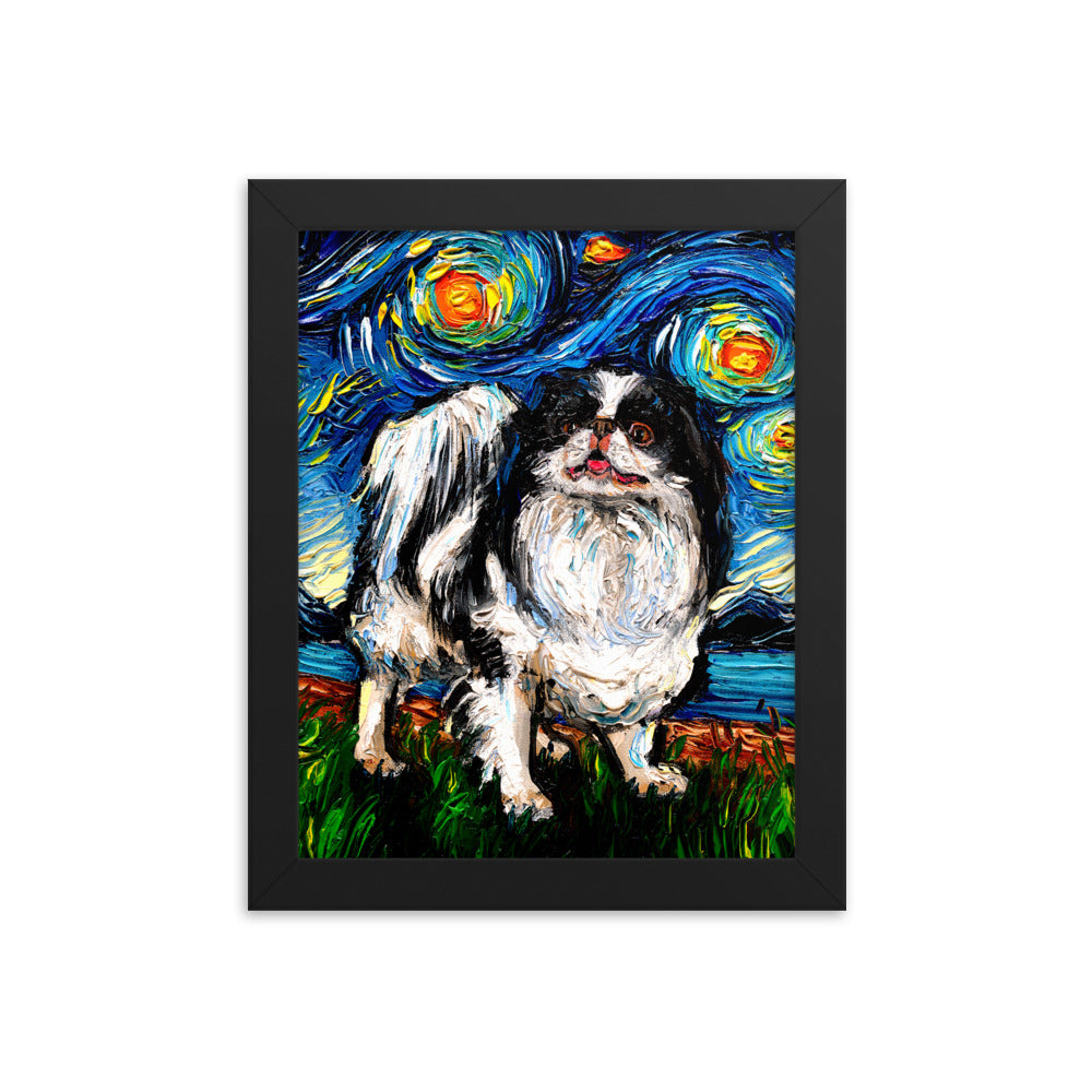 Japanese Chin Night Framed Photo Paper Poster