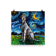 Irish Wolfhound, dog,dogs,poster,poster print,wall art,starry night, wall decore, paper, artwork,art,unframed print
