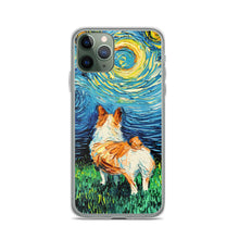 Load image into Gallery viewer, Corgi Night iPhone Case