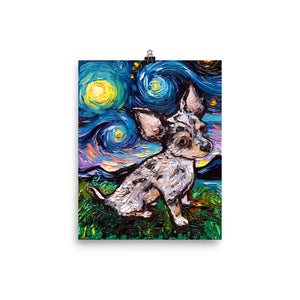 Merle Teacup Chihuahua Matte Poster Print