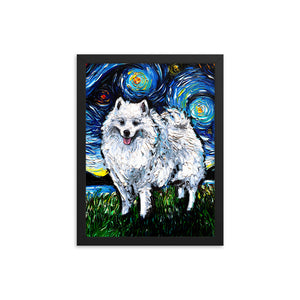 American Eskimo Night Framed Photo Paper Poster