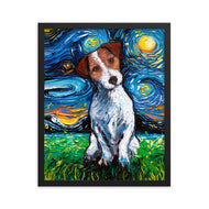 Jack Russell Terrier Night, Framed Print