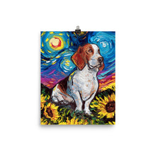 Load image into Gallery viewer, Basset Hound Night 2 Matte Poster Print