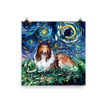 Load image into Gallery viewer, Collie Night Matte Poster Print