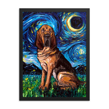Load image into Gallery viewer, Bloodhound Starry Night Framed Photo Paper Poster