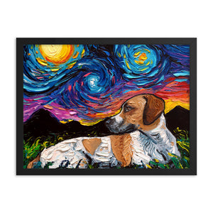 Beagle Mix Night Framed Photo Paper Poster