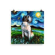 Saint Bernard Night Matte Poster Print