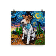 Wire Fox Terrier Night Matte Poster Print