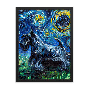 Scotty Night Framed Print