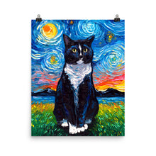 Load image into Gallery viewer, Tuxedo Cat, Matte Poster Print