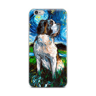 Saint Bernard Night iPhone Case