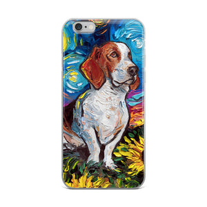 Basset Hound Night 2 iPhone Case