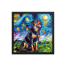 Load image into Gallery viewer, Rottweiler Night 2 Framed Print