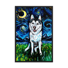 Load image into Gallery viewer, Husky Night 2 Framed Print