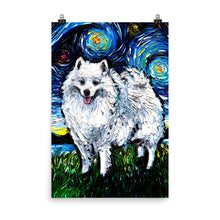 Load image into Gallery viewer, American Eskimo, Matte Poster Print