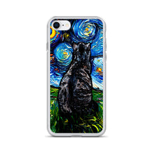 Load image into Gallery viewer, Gray Tabby Night iPhone Case