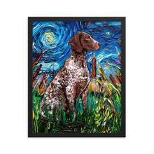 Load image into Gallery viewer, German Pointer Night Framed Print
